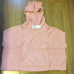 Old Navy 3T Poncho Short Sleeve Hooded Sweater